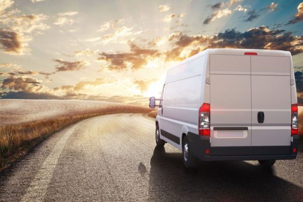 commercial van driving